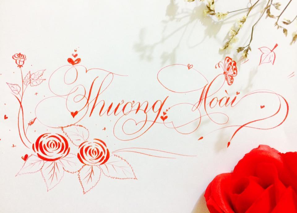 chữ hoa sáng tạo