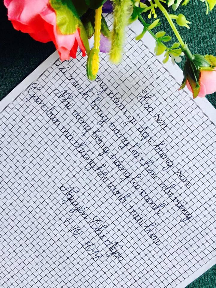 bài thi chữ đẹp