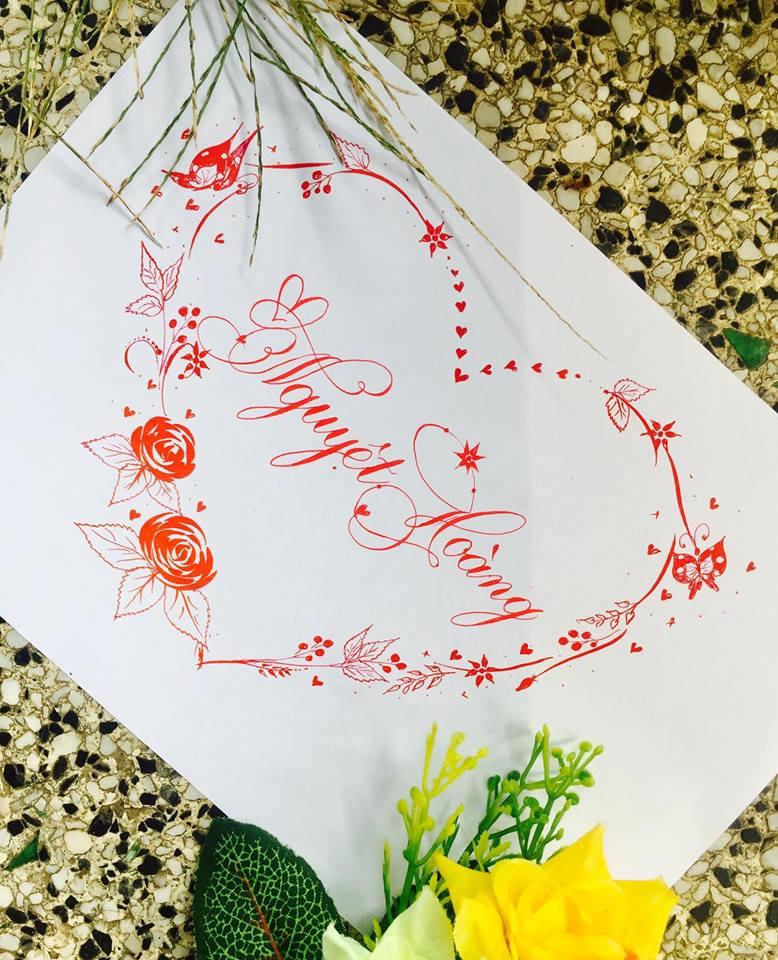 mau chu dep 11 - Bộ sưu tập mẫu chữ đẹp sáng tạo, chữ viết nghệ thuật với tên riêng