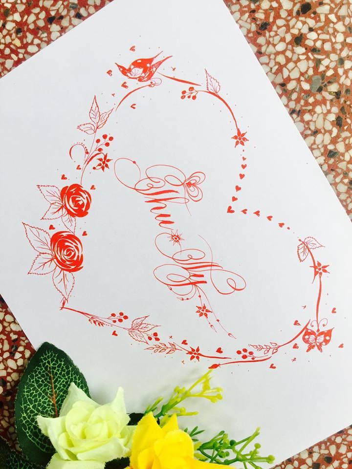mau chu dep 12 - Bộ sưu tập mẫu chữ đẹp sáng tạo, chữ viết nghệ thuật với tên riêng