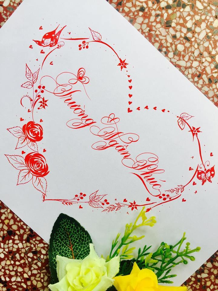 mau chu dep 14 - Bộ sưu tập mẫu chữ đẹp sáng tạo, chữ viết nghệ thuật với tên riêng