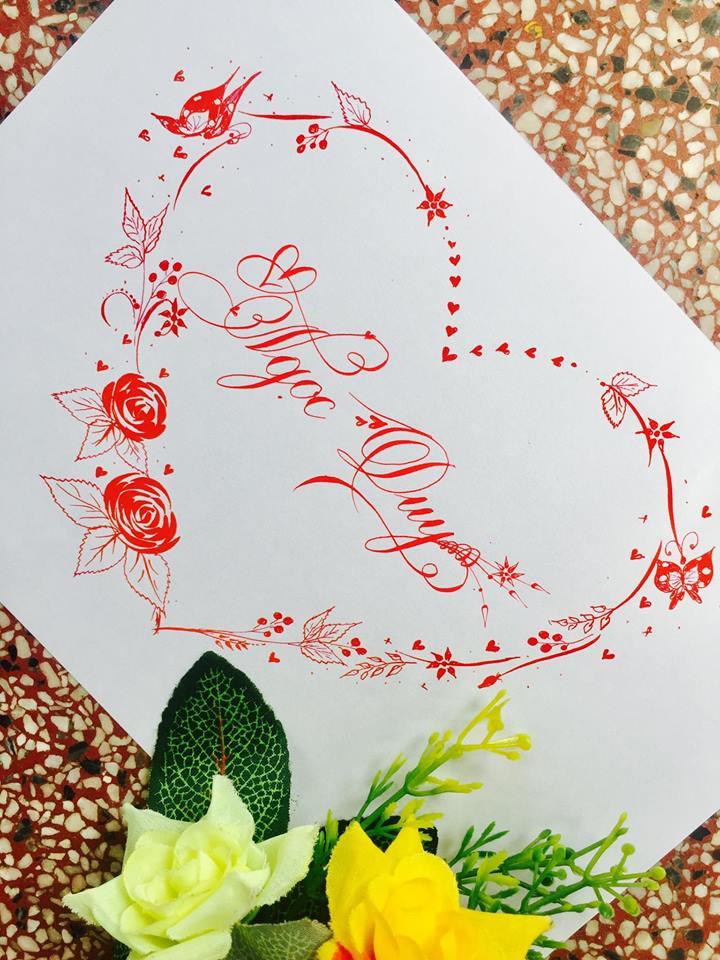 mau chu dep 16 - Bộ sưu tập mẫu chữ đẹp sáng tạo, chữ viết nghệ thuật với tên riêng