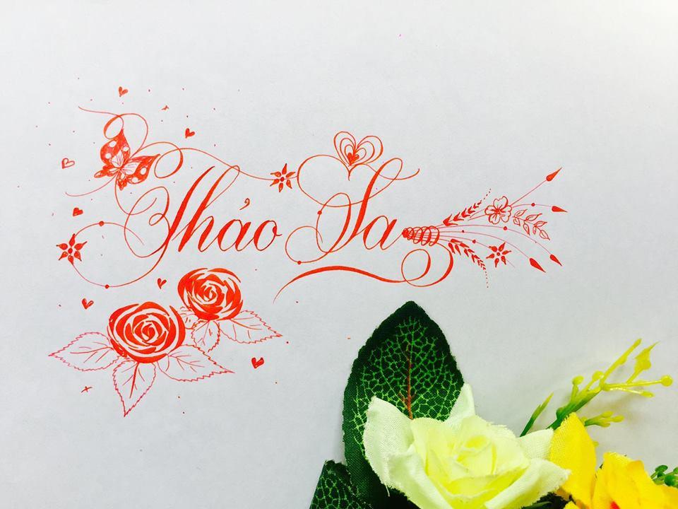 mau chu dep 17 - Bộ sưu tập mẫu chữ đẹp sáng tạo, chữ viết nghệ thuật với tên riêng
