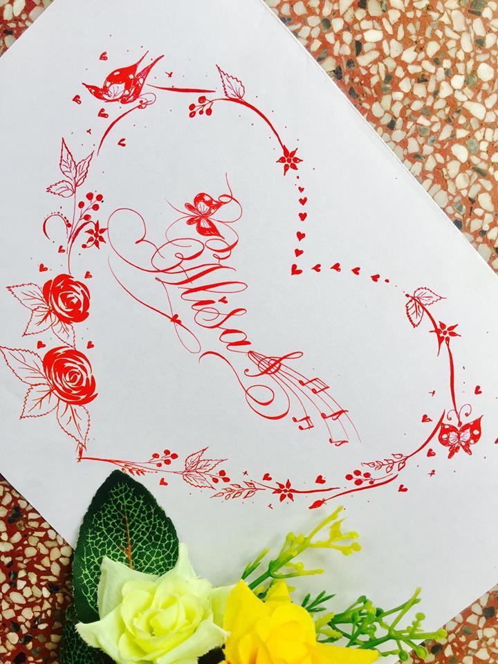 mau chu dep 19 - Bộ sưu tập mẫu chữ đẹp sáng tạo, chữ viết nghệ thuật với tên riêng