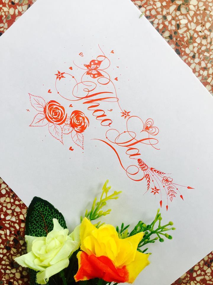 mau chu dep 2 - Bộ sưu tập mẫu chữ đẹp sáng tạo, chữ viết nghệ thuật với tên riêng