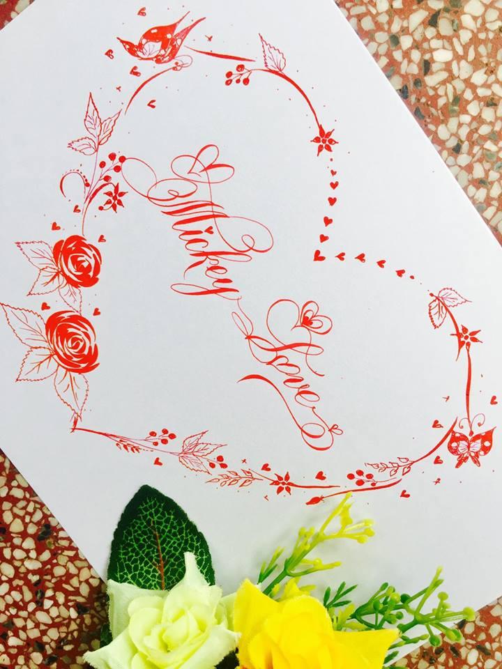 mau chu dep 22 - Bộ sưu tập mẫu chữ đẹp sáng tạo, chữ viết nghệ thuật với tên riêng