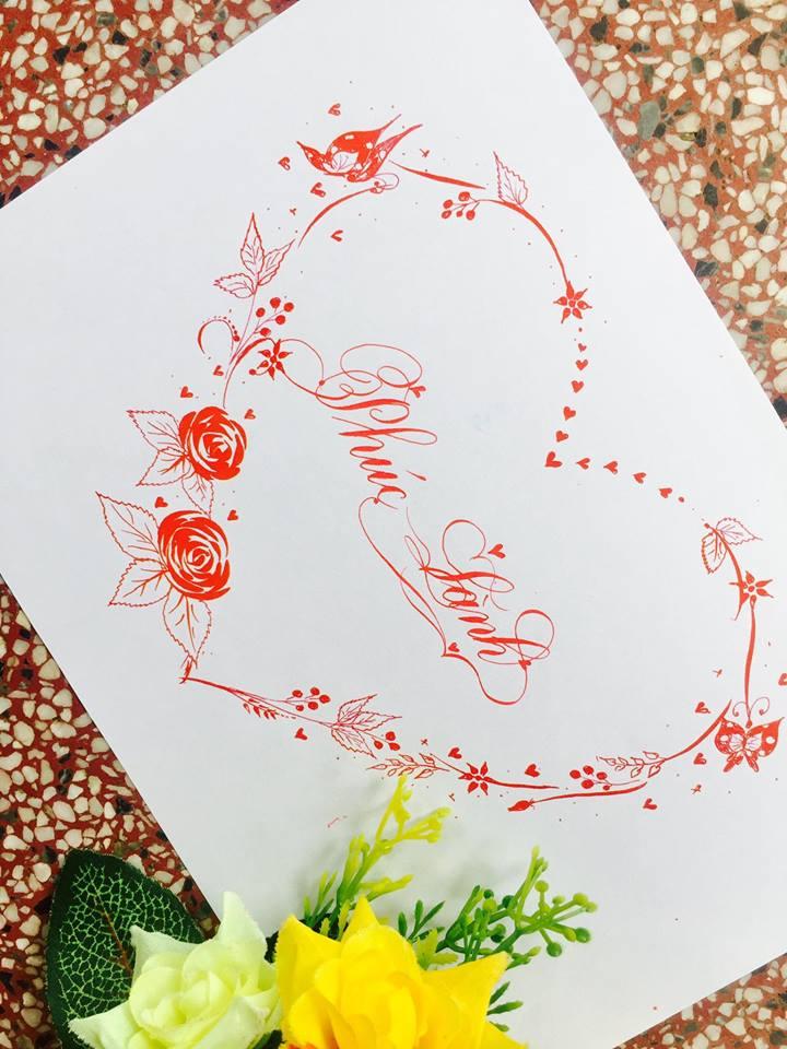 mau chu dep 23 - Bộ sưu tập mẫu chữ đẹp sáng tạo, chữ viết nghệ thuật với tên riêng