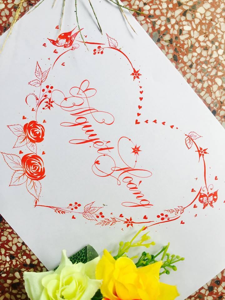 mau chu dep 24 - Bộ sưu tập mẫu chữ đẹp sáng tạo, chữ viết nghệ thuật với tên riêng