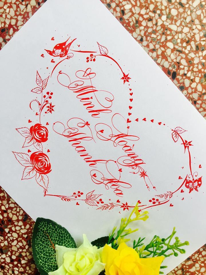 mau chu dep 25 - Bộ sưu tập mẫu chữ đẹp sáng tạo, chữ viết nghệ thuật với tên riêng