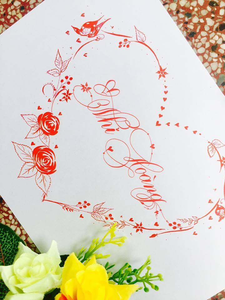 mau chu dep 3 - Bộ sưu tập mẫu chữ đẹp sáng tạo, chữ viết nghệ thuật với tên riêng