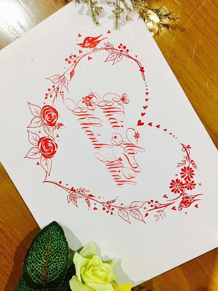 mau chu dep 30 - Bộ sưu tập mẫu chữ đẹp sáng tạo, chữ viết nghệ thuật với tên riêng