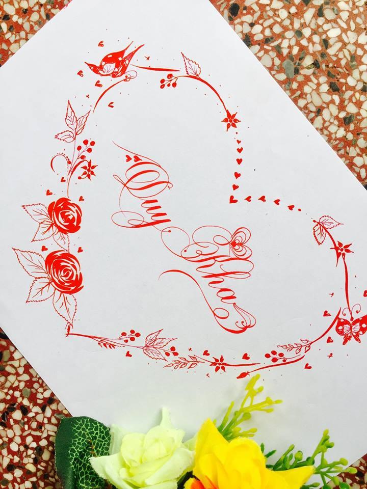 mau chu dep 32 - Bộ sưu tập mẫu chữ đẹp sáng tạo, chữ viết nghệ thuật với tên riêng