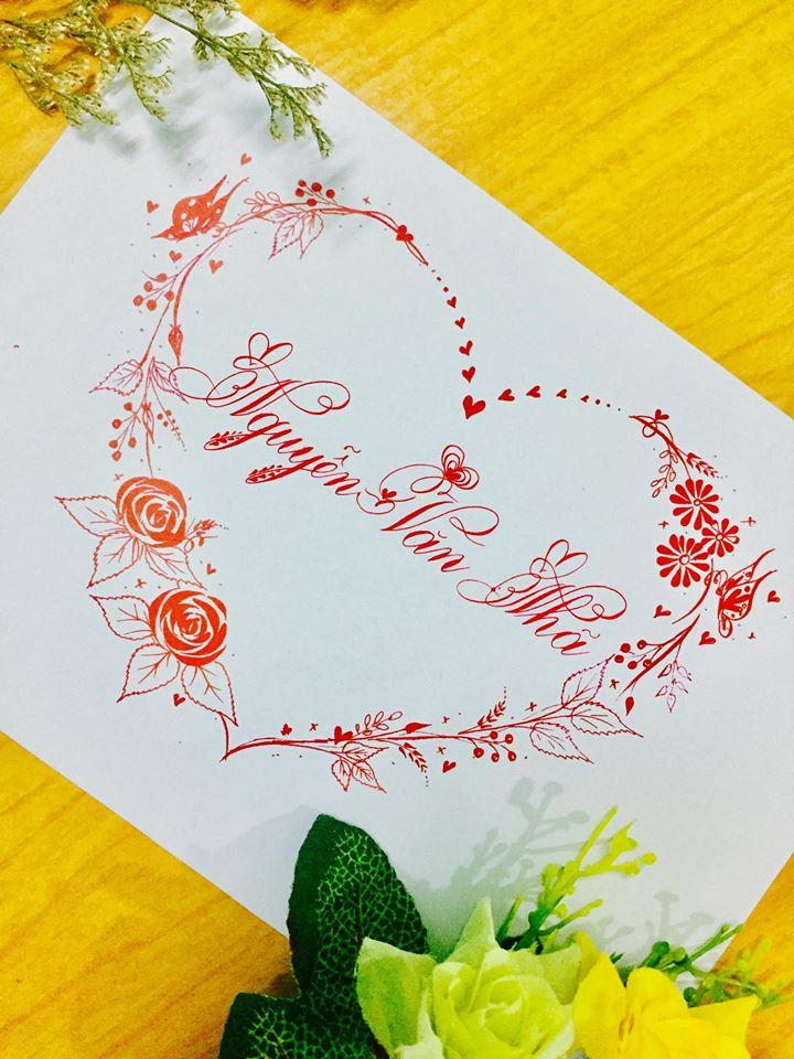 mau chu dep 35 - Bộ sưu tập mẫu chữ đẹp sáng tạo, chữ viết nghệ thuật với tên riêng