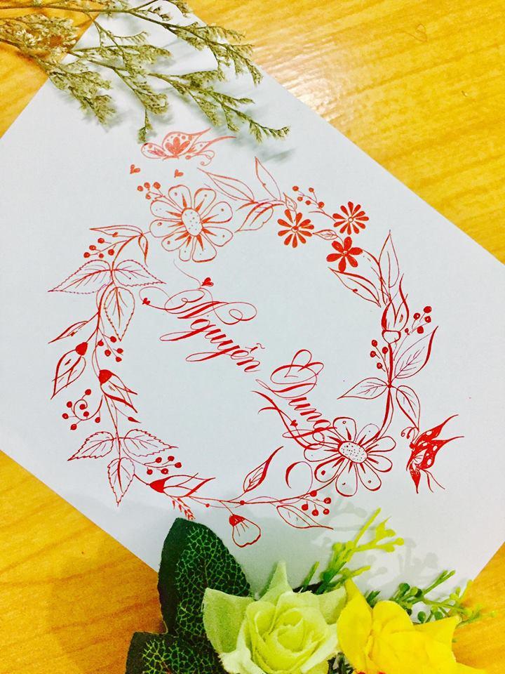 mau chu dep 36 - Bộ sưu tập mẫu chữ đẹp sáng tạo, chữ viết nghệ thuật với tên riêng