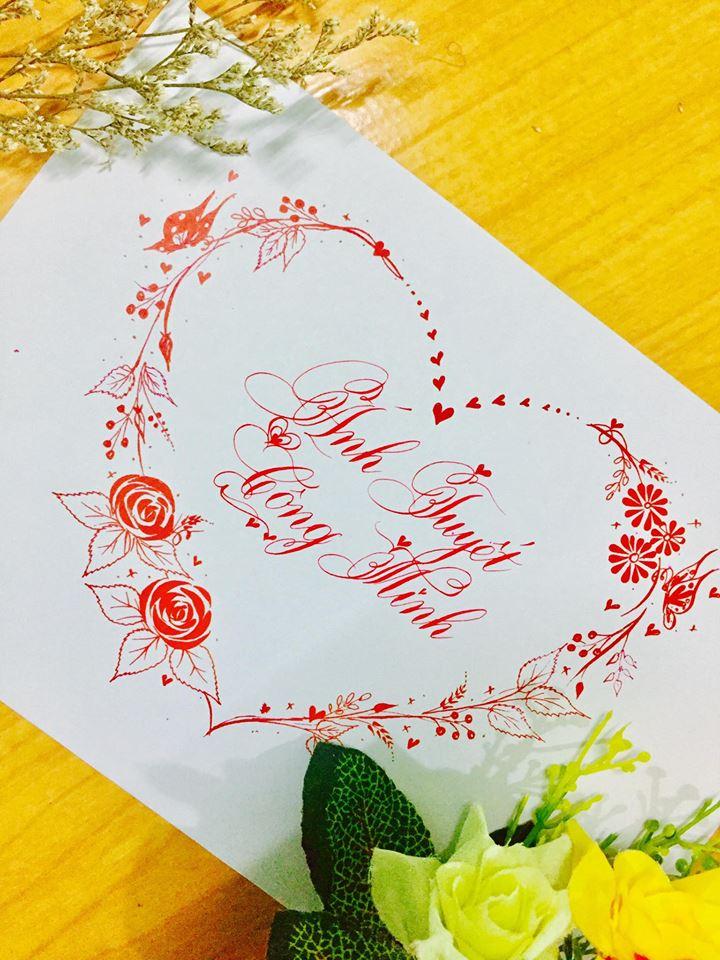 mau chu dep 38 - Bộ sưu tập mẫu chữ đẹp sáng tạo, chữ viết nghệ thuật với tên riêng