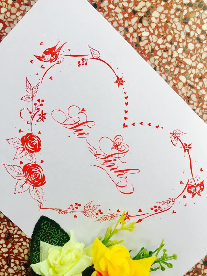 mau chu dep 4 - Bộ sưu tập mẫu chữ đẹp sáng tạo, chữ viết nghệ thuật với tên riêng