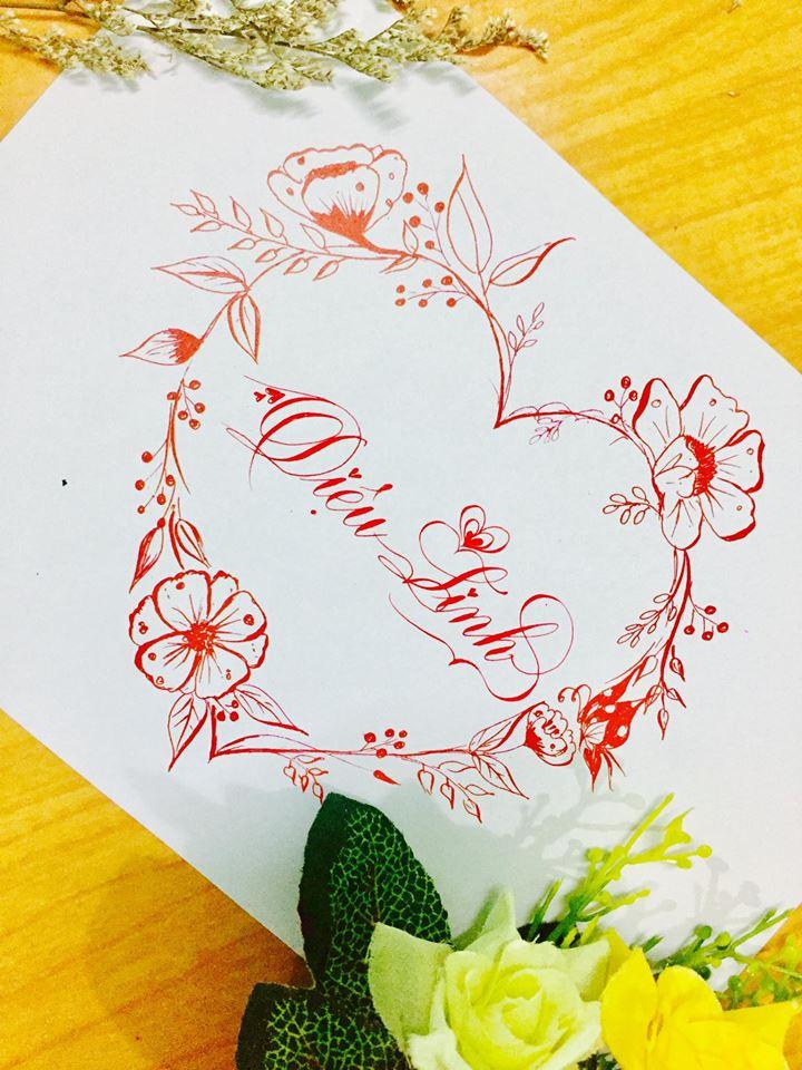 mau chu dep 43 - Bộ sưu tập mẫu chữ đẹp sáng tạo, chữ viết nghệ thuật với tên riêng