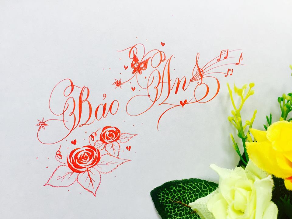 mau chu dep 5 - Bộ sưu tập mẫu chữ đẹp sáng tạo, chữ viết nghệ thuật với tên riêng