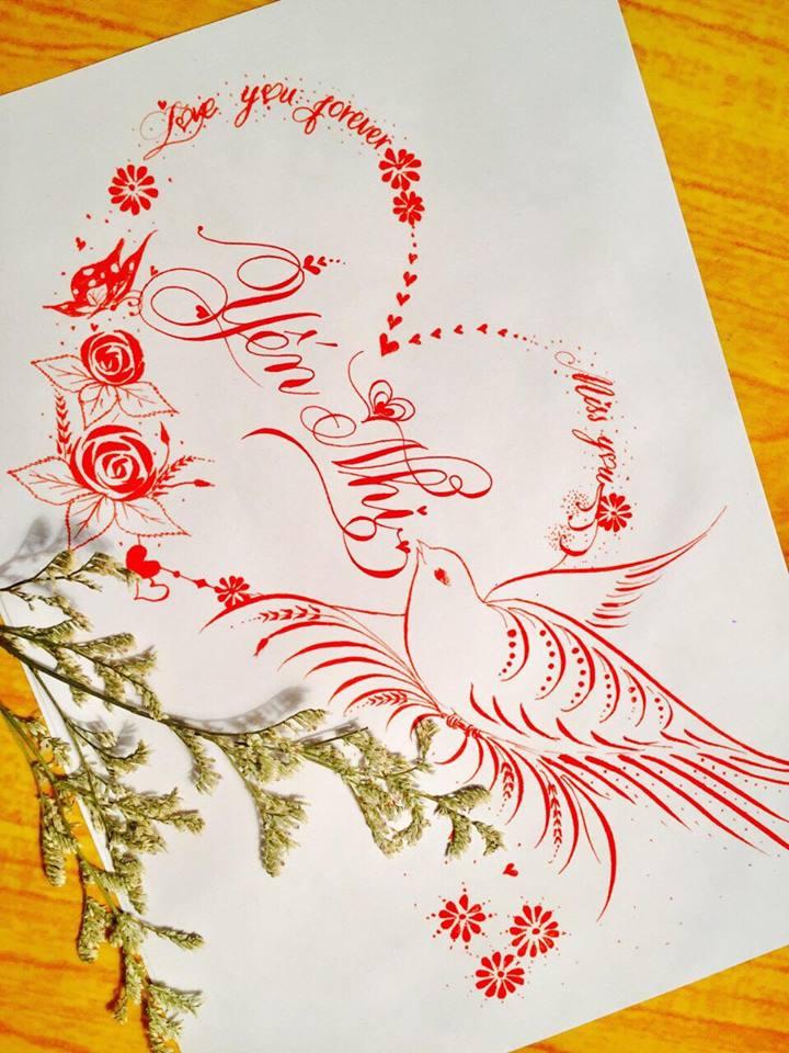 mau chu dep 52 - Bộ sưu tập mẫu chữ đẹp sáng tạo, chữ viết nghệ thuật với tên riêng