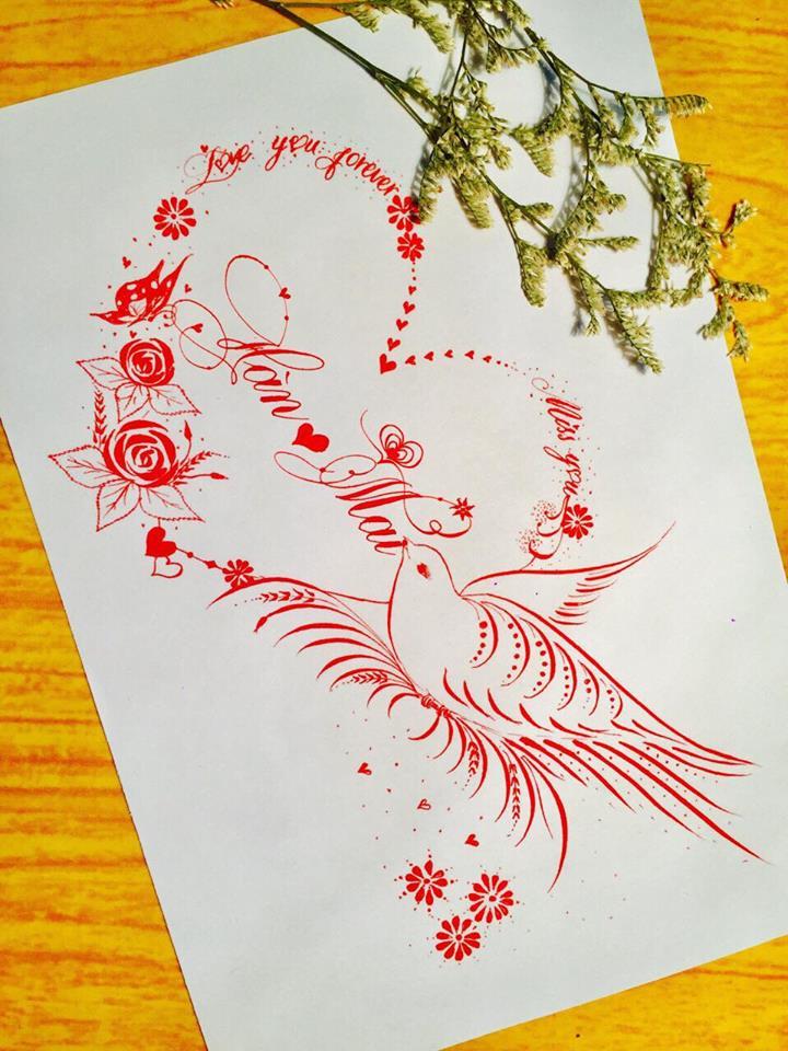 mau chu dep 53 - Bộ sưu tập mẫu chữ đẹp sáng tạo, chữ viết nghệ thuật với tên riêng
