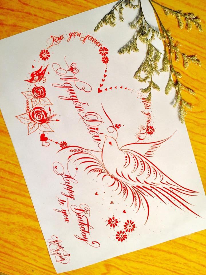 mau chu dep 54 - Bộ sưu tập mẫu chữ đẹp sáng tạo, chữ viết nghệ thuật với tên riêng