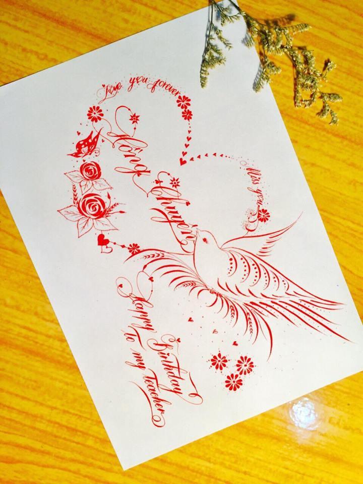 mau chu dep 56 - Bộ sưu tập mẫu chữ đẹp sáng tạo, chữ viết nghệ thuật với tên riêng