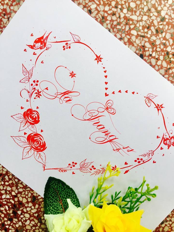 mau chu dep 60 - Bộ sưu tập mẫu chữ đẹp sáng tạo, chữ viết nghệ thuật với tên riêng