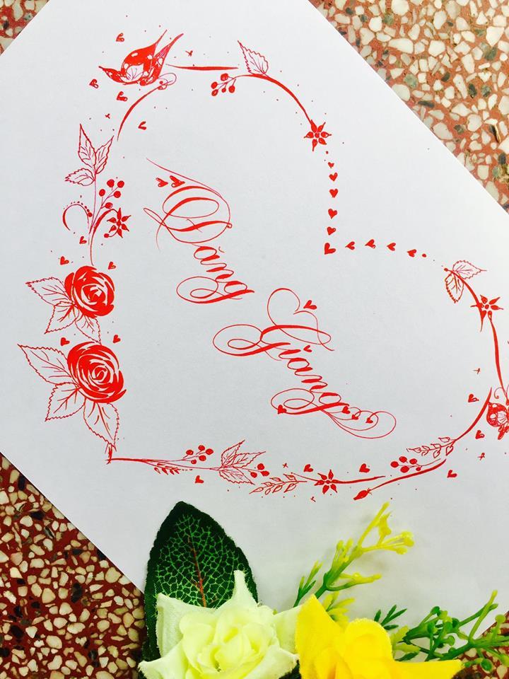 mau chu dep 7 - Bộ sưu tập mẫu chữ đẹp sáng tạo, chữ viết nghệ thuật với tên riêng
