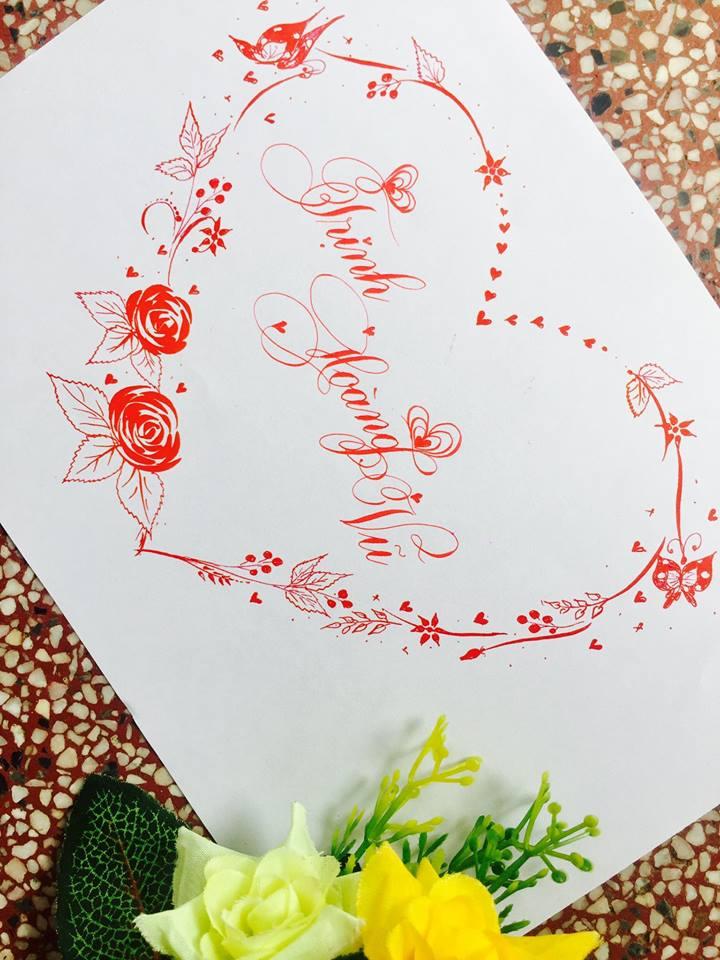 mau chu dep 8 - Bộ sưu tập mẫu chữ đẹp sáng tạo, chữ viết nghệ thuật với tên riêng