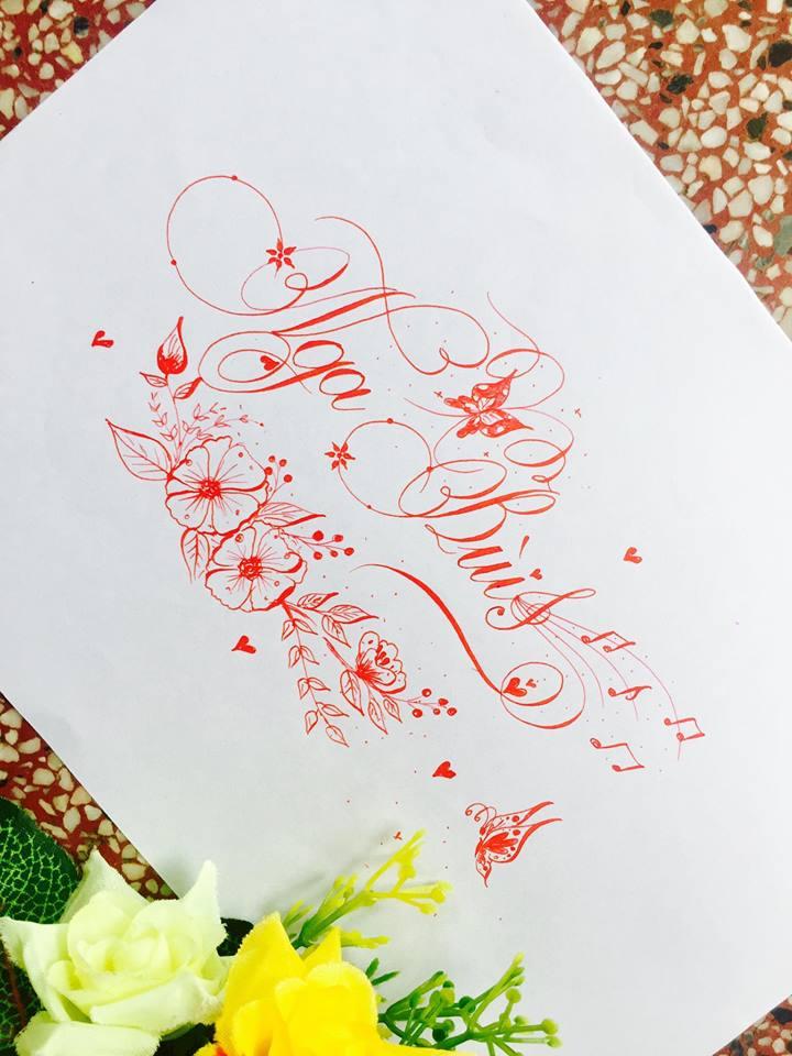 mau chu dep 9 - Bộ sưu tập mẫu chữ đẹp sáng tạo, chữ viết nghệ thuật với tên riêng