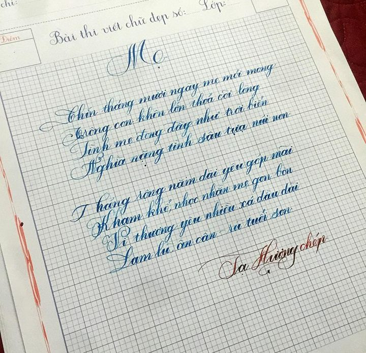 thi viết chữ đẹp