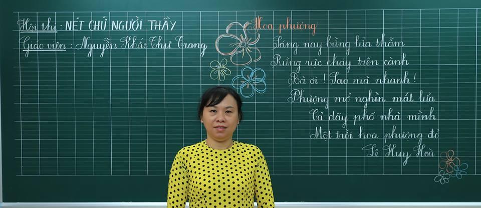 """bai thi viet bang dep 21 - Bài thi viết bảng đẹp - hội thi """"Nét chữ người thầy"""" TH Lương Định Của"""