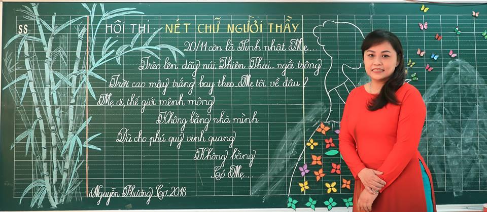 """bai thi viet bang dep 25 - Bài thi viết bảng đẹp - hội thi """"Nét chữ người thầy"""" TH Lương Định Của"""