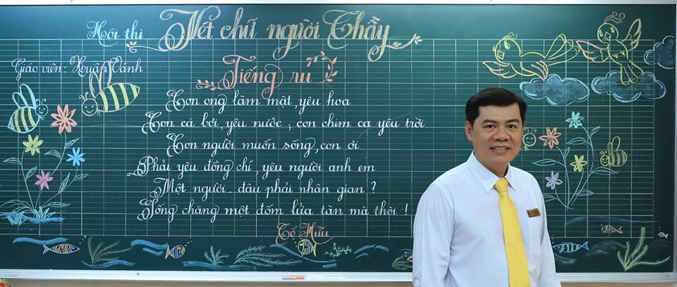 """bai thi viet bang dep 29 - Bài thi viết bảng đẹp - hội thi """"Nét chữ người thầy"""" TH Lương Định Của"""