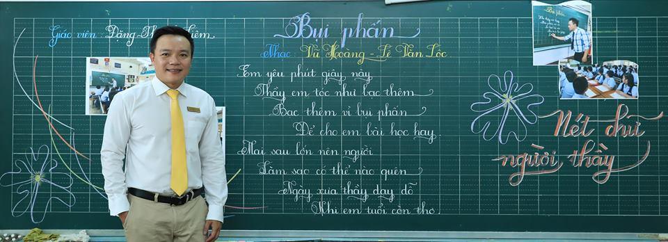 """bai thi viet bang dep 32 - Bài thi viết bảng đẹp - hội thi """"Nét chữ người thầy"""" TH Lương Định Của"""
