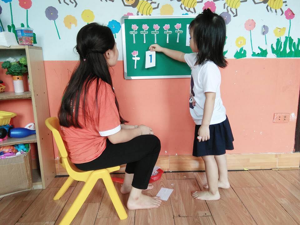 dạy bé học toán