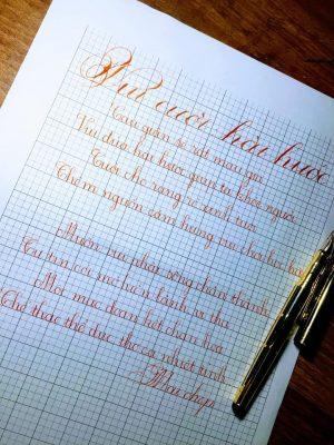 mẫu luyện viết chữ